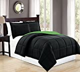 Mk Collection 3pc Full/Queen Down Alternative Comforter Set Reversible...