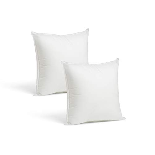 Set of 2-26 x 26 Premium Hypoallergenic European Sleep Pillow Inserts Sham...