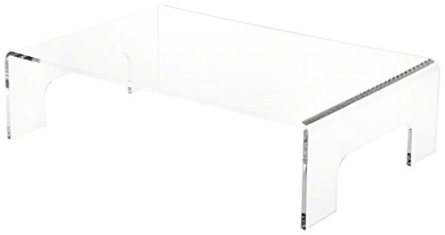 Plymor Clear Acrylic Display Riser with Tray Handles, 4' H x 15' W x 10' D...