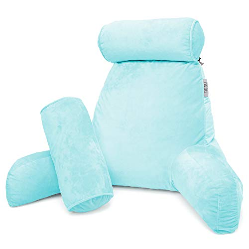 Nestl Reading Pillow, Includes 1 Extra Large Bed Rest Pillow with Arms + 2...