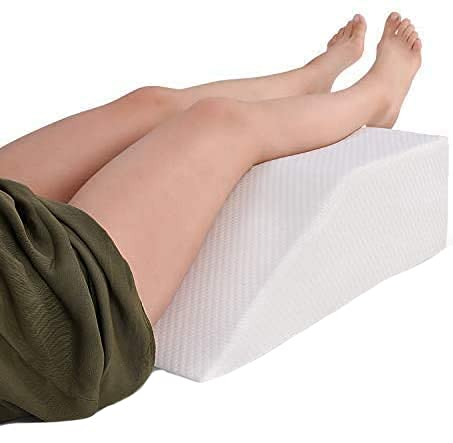 Leg Elevation Pillow with Memory Foam Top - Elevating Leg Rest to Reduce...