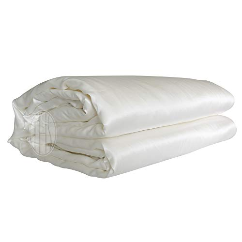 THXSILK Silk Comforter with Removable Silk Duvet Cover, Silk Filled...