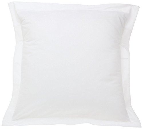 THREAD SPREAD European Square Pillow Shams Set of 2 White 1000 Thread Count...