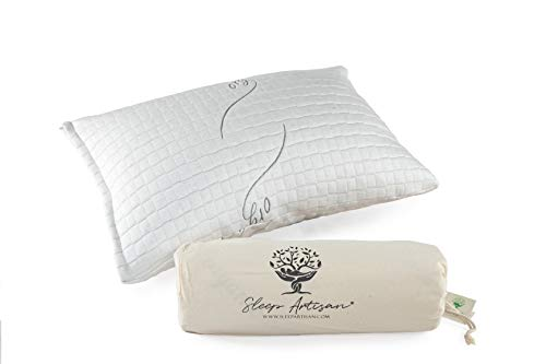 Sleep Artisan Latex Pillow Standard Size Adjustable Bed Pillows With...