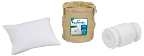 Sleep Innovations Bag of Comfort Twin Memory Foam Topper and Pillow Set