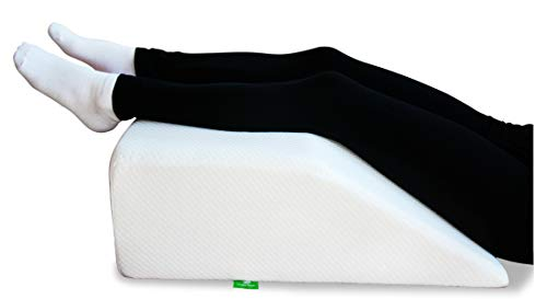 Post Surgery Elevating Leg Rest Pillow with Memory Foam Top - Best for...