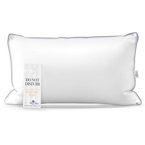 The Original Queen Anne Pillow - Famous 100% European White Goose and Duck...