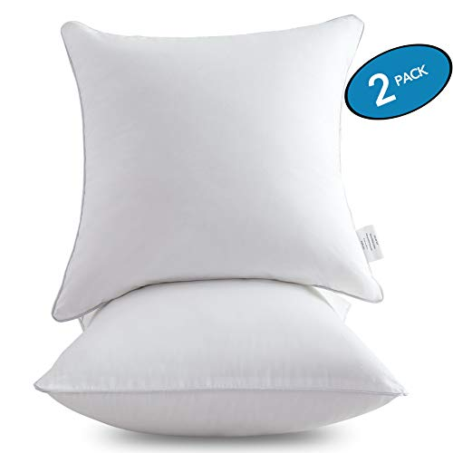 Oubonun 18 x 18 Pillow Inserts (Set of 2) - Throw Pillow Inserts with 100%...