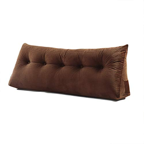 WOWMAX Triangular Reading Pillow Large Bolster Headboard Backrest...