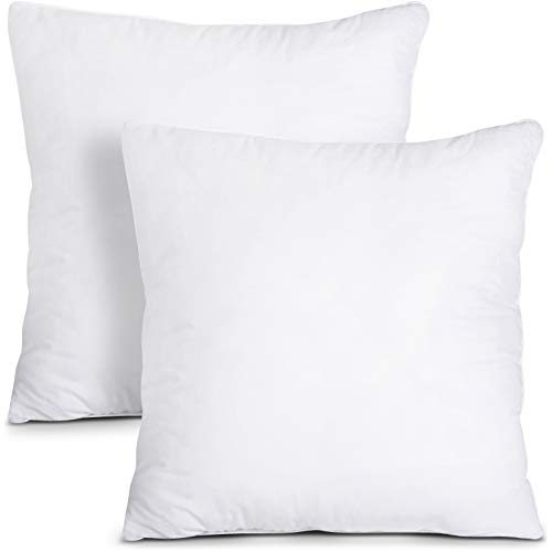 Utopia Bedding Throw Pillows Insert (Pack of 2, White) - 16 x 16 Inches Bed...