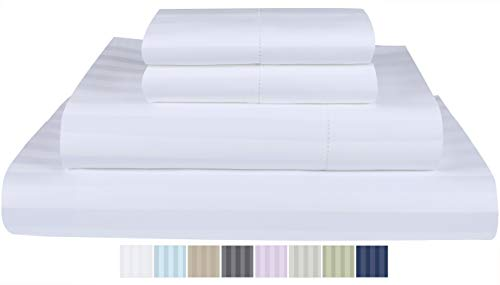 Threadmill Home Linen 500 Thread Count Queen Bed Sheets Set - 100% ELS...