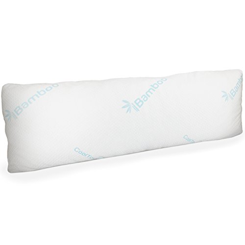 Memory Foam Body Pillow with Bamboo Cover | Large Firm Pillow for Adults...