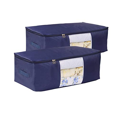 Comforter Storage Bags Pack of 2,(14 colors to choose) Pillow...