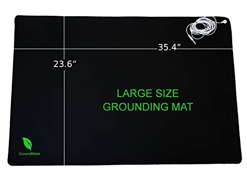 Groundmate Grounding Mat, Multi-Purpose Conductive Leather Mat with...