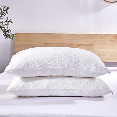 Dreaming Wapiti Pillows for Sleeping, 2 Pack Shredded Memory Foam with...