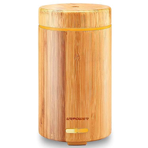 URPOWER OD-A001 Real Bamboo Essential Oil Ultrasonic Aromotherapy Cool...