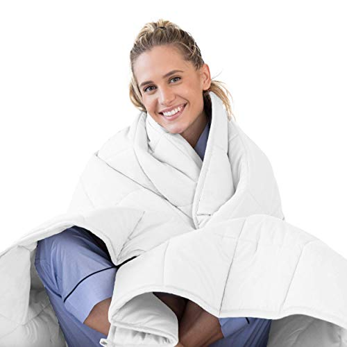 LUNA Adult Weighted Blanket | Individual Use - 15 lbs - 60x80 - Queen Size...