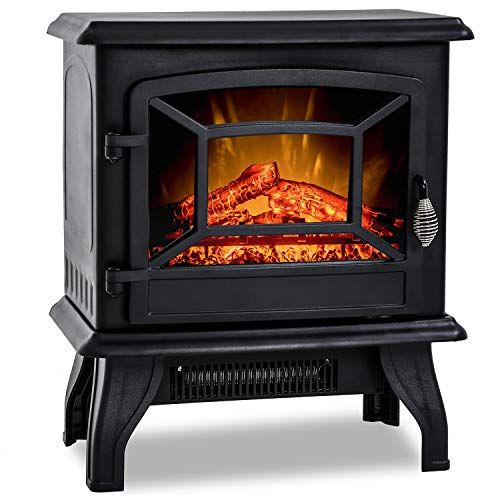 20'H Electric Fireplace Heater,Portable Freestanding Fireplace Stove Space...