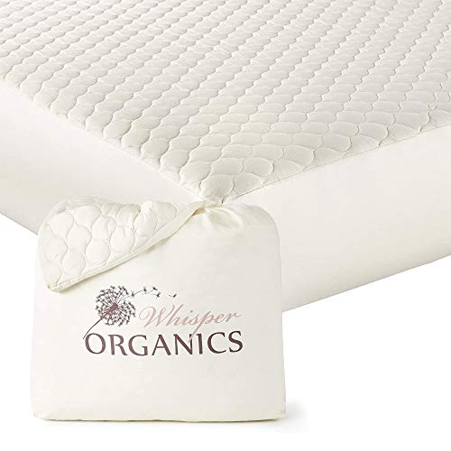 Whisper Organics, 100% Organic Mattress Protector - Quilted Fitted Mattress...