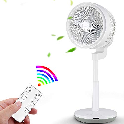 Standing Fan with Air Circulation Function, Oscillating Fan with Remote...