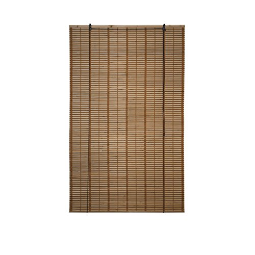 ALEKO BBL39X64BR Light Brown Bamboo Roman Wooden Indoor Roll Up Window...