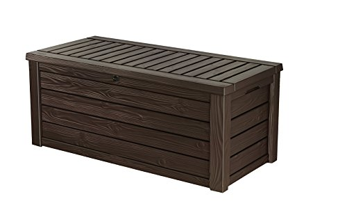 Keter Westwood 150 Gallon Resin Large Deck Box-Organization and Storage for...