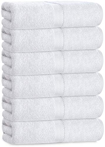 Luxury White Hand Towels - Soft Circlet Egyptian Cotton | Highly Absorbent...