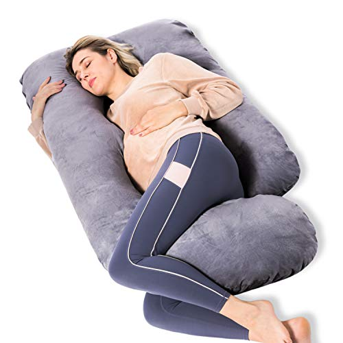 Momcozy Pregnancy Pillow, U Shaped Full Body Maternity Pillow with...