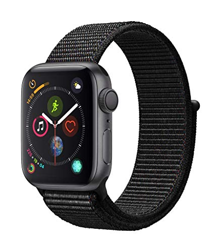 AppleWatch Series4 (GPS, 40mm) - Space Gray Aluminum Case with Black...