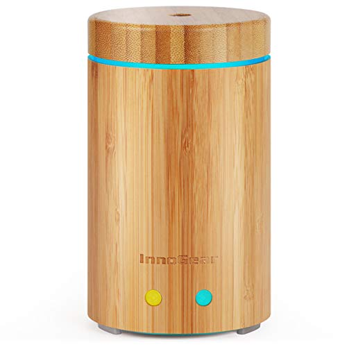 InnoGear Upgraded Real Bamboo Essential Oil Diffuser Ultrasonic Aroma...