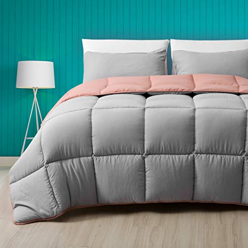 Cobnom All Season Reversible Down Alternative Comforter, 3-Piece Luxury...