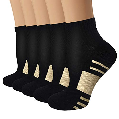 Copper Compression Running Socks For Men & Women-5/10 Pairs-Fit for...