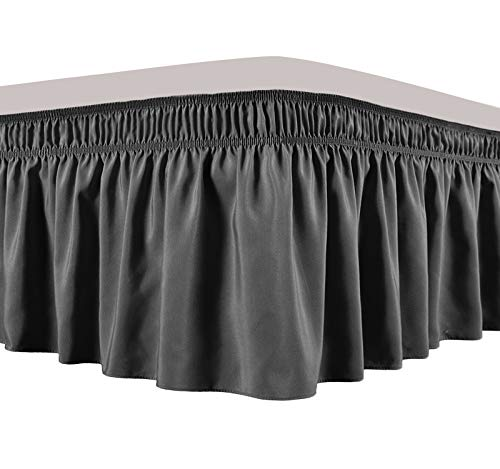 Obytex Wrap Around Bed Skirts, Cotton Bedskirt Elastic Dust Ruffle Silky...