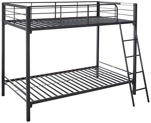 Zinus Patti Easy Assembly Quick Lock Twin over Twin Metal Bunk Bed / Quick...