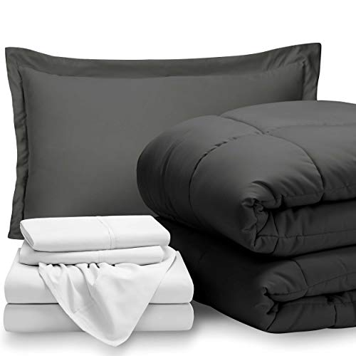 Bare Home Bed-in-A-Bag 5 Piece Comforter & Sheet Set - Twin Extra Long -...
