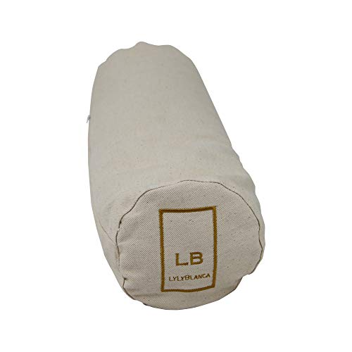 LYLYBLANCA 2021 14'x5' Cylindrical Pure Nature Buckwheat Pillow, Ideal for...