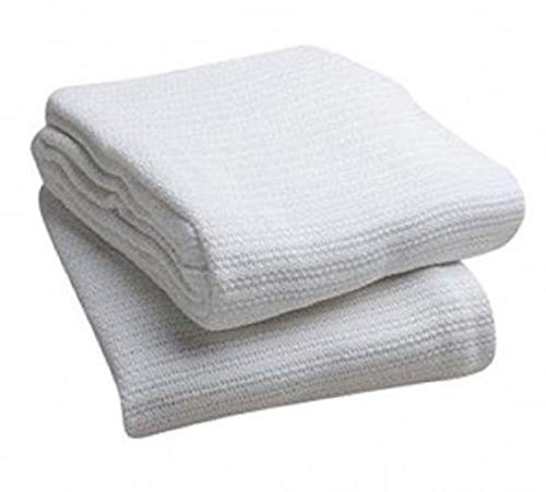 Elivo 100% Cotton Hospital Thermal Blankets - Open Weave Cotton Blanket -...