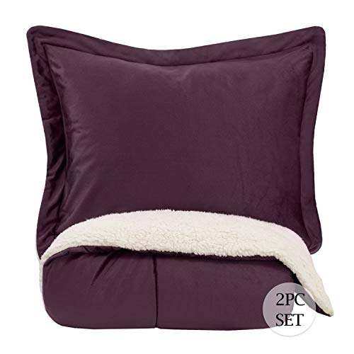 Sweet Home Collection Comforter Set 2 Piece Sherpa Soft and Luxurious Plush...