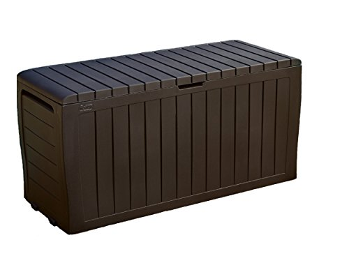 Keter Marvel Plus 71 Gallon Resin Outdoor Storage Box for Patio Furniture...