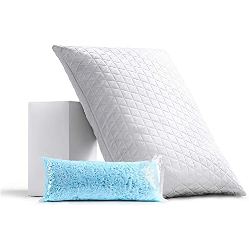 REMOCAHOME Adjustable Shredded Memory Foam Bed Pillow, Breathable...