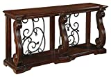 Signature Design by Ashley Alymere Sofa Table Rustic Brown