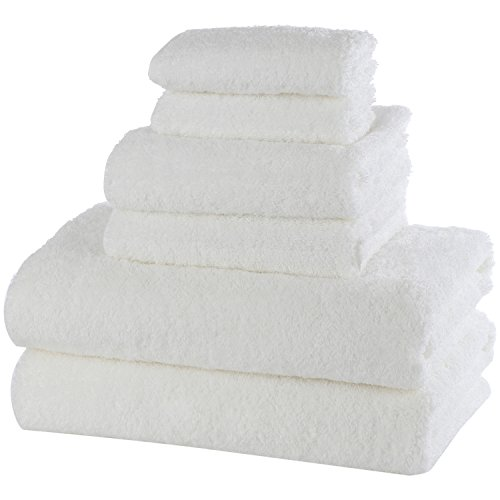 Caribbean Natural Bamboo Bath Towel (6, Set (2 washcloths, 2 hand towels, 2...