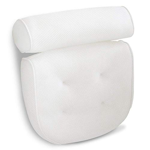 Luxurious Bath Pillow Non-Slip and Extra Thick with Head, Neck, Shoulder...