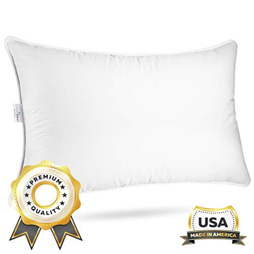 "ComfyDown Sleeping Pillow - European Goose Down, ""Medium"" Density..."