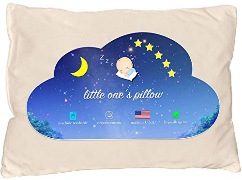 Little One's Pillow - Toddler Pillow, Delicate Organic Cotton Shell,...