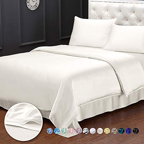 LilySilk 100% Mulberry Silk Duvet Cover for Queen Bed Soft Comfy 19 Momme...
