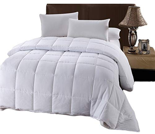 Royal Hotel Comforter White Down Alternative - Twin Quilted Duvet Insert -...