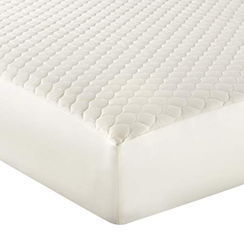 Whisper Organics 100% Organic Cotton Quilted Fitted Mattress Pad Cover...