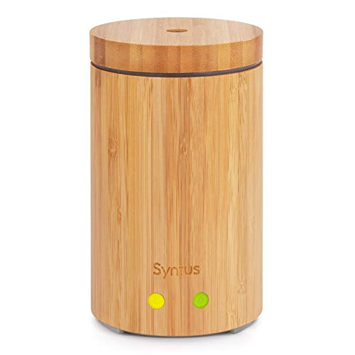 Syntus Essential Oil Diffuser, Real Bamboo Diffuser 160ml Ultrasonic...
