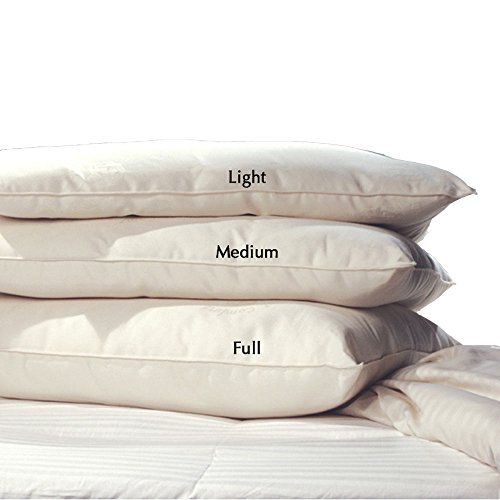 LIFEKIND Certified Organic Wool Pillow, Standard, Medium Loft,...
